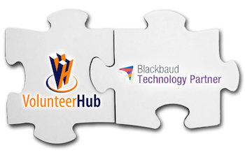 puzzle volunteerHub and Blackbaud