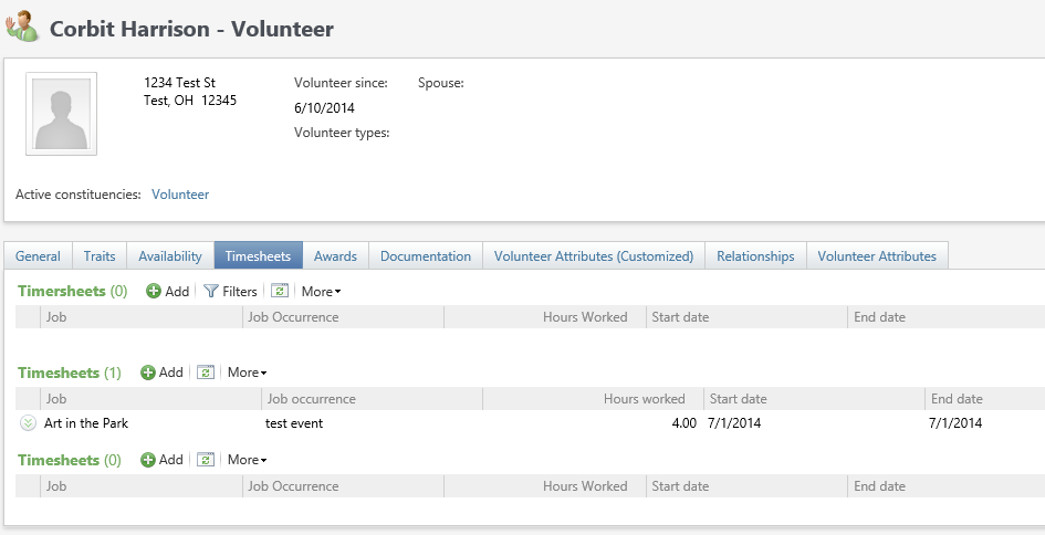 volunteer timesheet