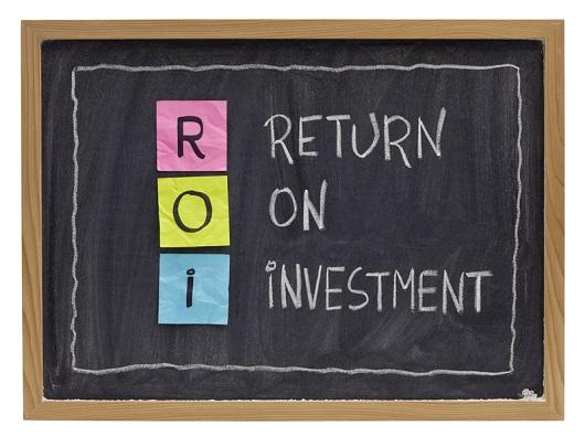 ROI written on a chalkboard