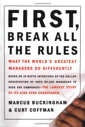 First Break All the Rules - Great Nonprofit Leadership Book