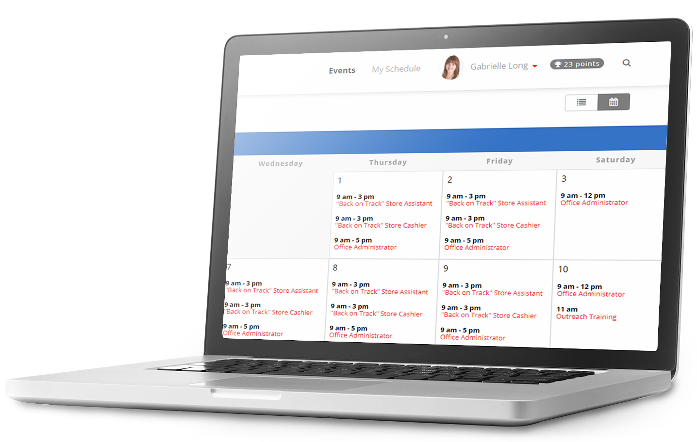 simplify scheduling organization and reporting by having your volunteer sign up calendar online with volunteerhub